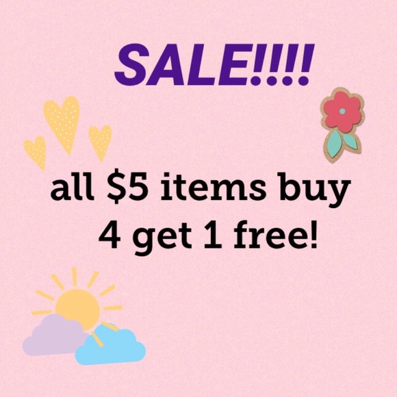 Other - SALE buy 4 get 1 free